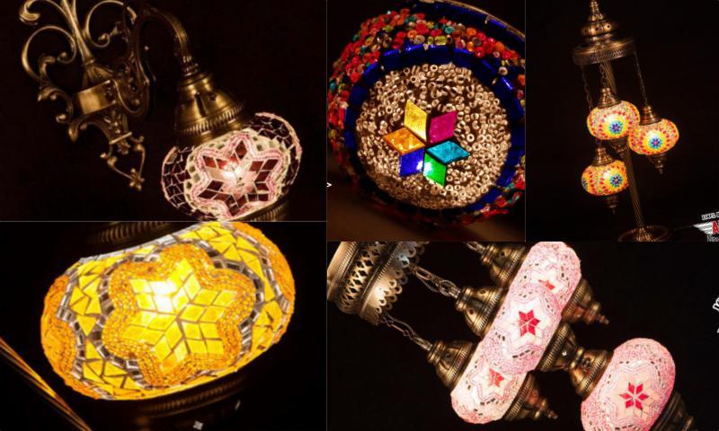 Zeminleri Aydınlatan Dekoratif Mozaik Lambalar