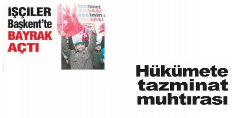 TURKIŞ Eylem ve Yürüyüş Yaptı, Kıdem tazminatları Konusunda Kararlı